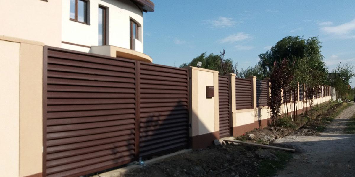 Gard metalic si porti auto si pietonala - comuna Moara Vlasiei