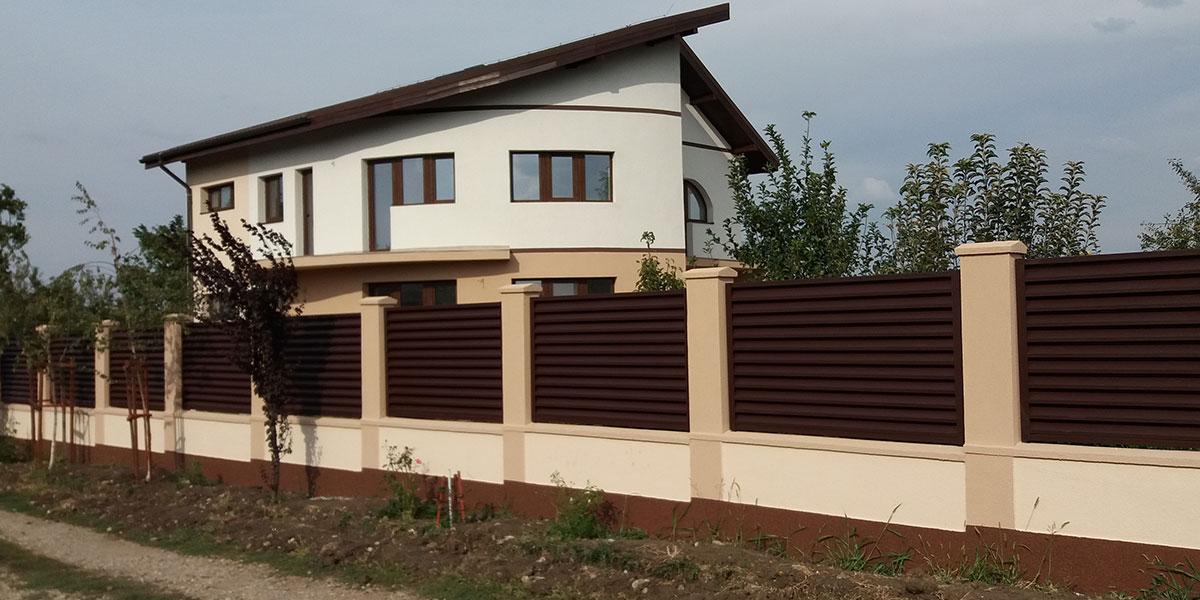 Gard metalic si porti metalice auto si pietonala - comuna Moara Vlasiei