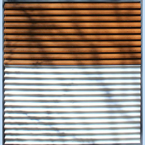 Panou gard metalic imitatie lemn