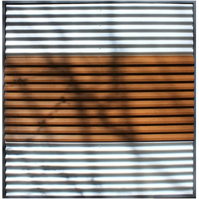Panou de gard metalic imitatie lemn