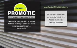 Gard metalic pret promotional noiembrie-decembrie 2017