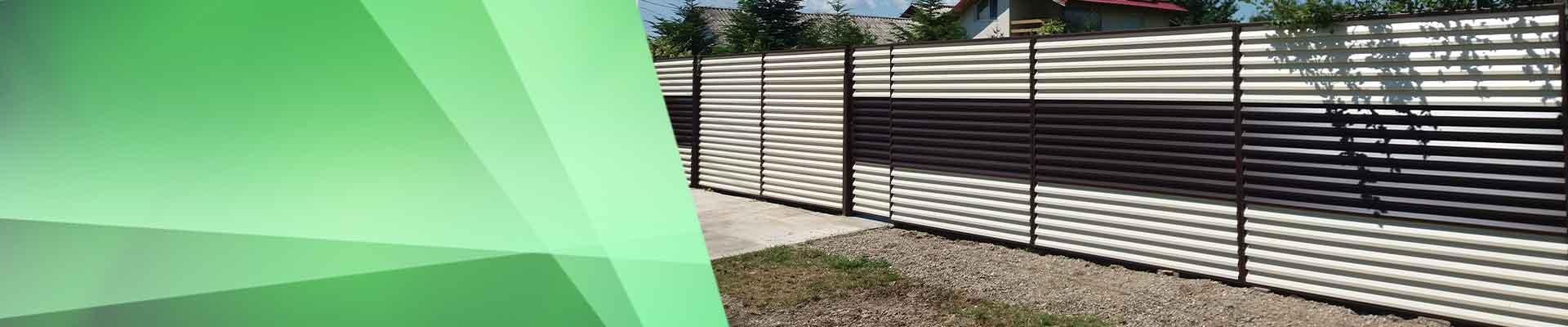 Gard metalic divers colorat