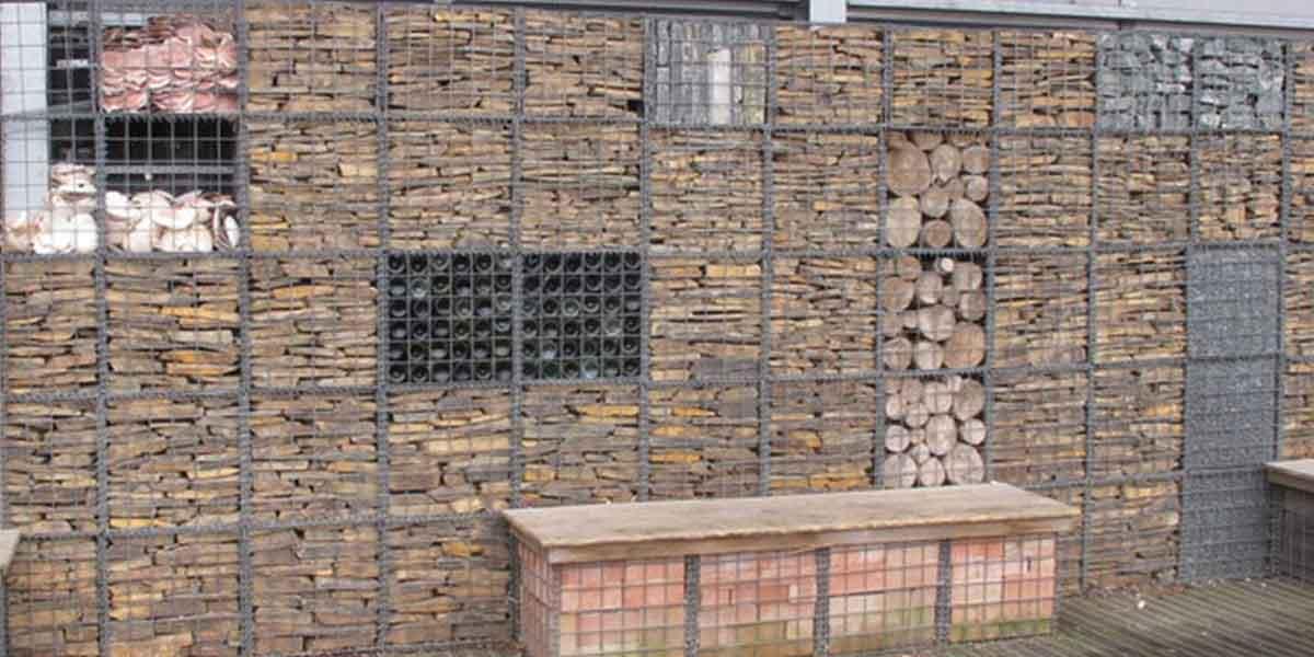 Gard gabioane cu umpluturi diverse