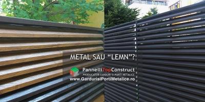Garduri metalice imitatie lemn