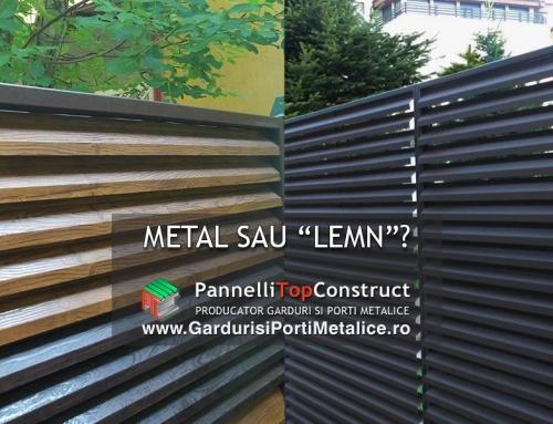 Gard metalic sau… imitatie lemn?
