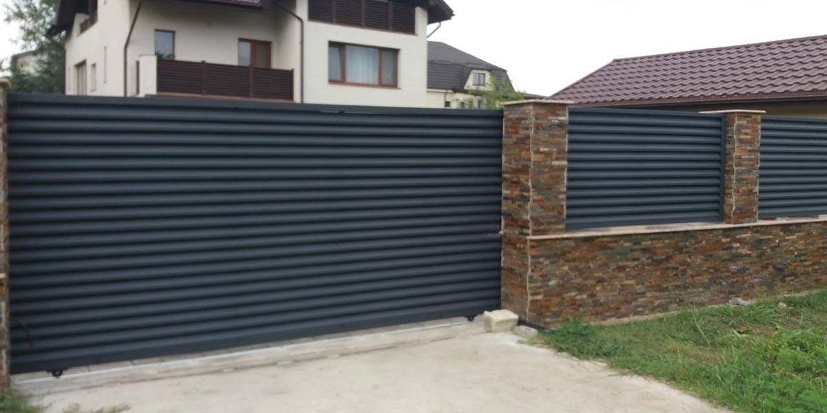 Gard poarta culisanta si poarta pietonala Bucuresti sect 3