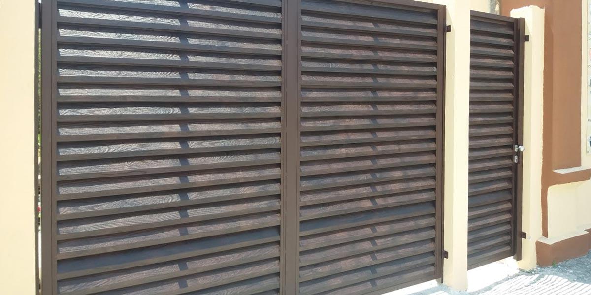 Porti batante imitatie lemn nuc - Calarasi